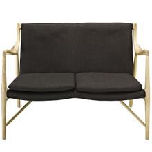 Makeshift Upholstered Loveseat, Brown Fabric