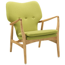 Heed Lounge Chair, Green Fabric