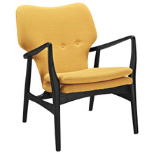Heed Lounge Chair, Yellow Fabric