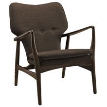 Heed Lounge Chair, Brown Fabric