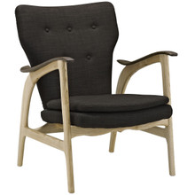 Counsel Lounge Chair, Brown Fabric