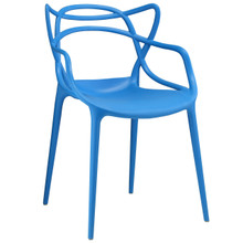Entangled Dining Armchair, Blue Plastic