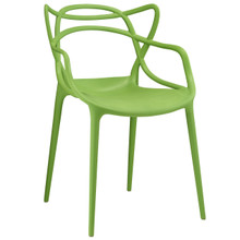 Entangled Dining Armchair, Green Plastic
