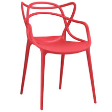 Entangled Dining Armchair, Red Plastic