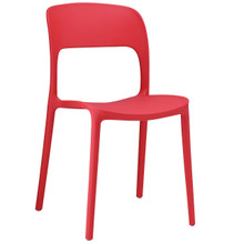 Hop Dining Chair, Red Plastic