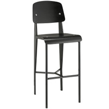 Cabin Bar Stool, Black Metal