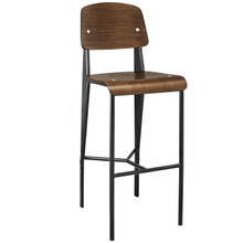 Cabin Bar Stool, Walnut Black Metal