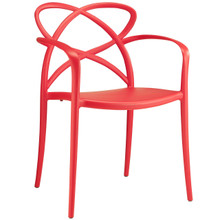 Enact Dining Armchair, Red Plastic