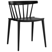 Spindle Dining Side Chair, Black Plastic