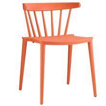 Spindle Dining Side Chair, Orange Plastic