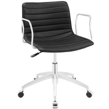 Celerity Office Chair, Black Faux Leather