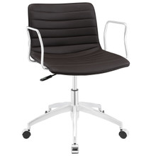 Celerity Office Chair, Brown Faux Leather