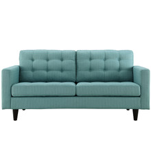 Empress Loveseat, Blue Fabric