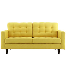 Empress Loveseat, Yellow Fabric