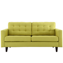 Empress Loveseat, Green Fabric