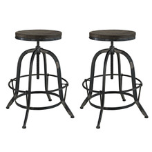 Collect 2 Piece Dining Bar Stool Set, Black Metal