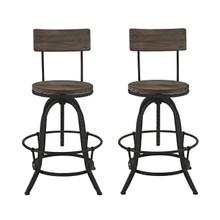 Procure 2 Piece Dining Barstool Set, Brown Metal