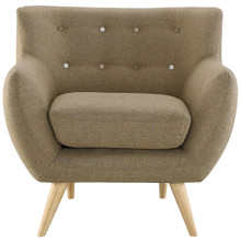 Remark Armchair, Brown Fabric