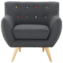 Remark Armchair, Grey Fabric