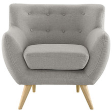 Remark Armchair, Light Grey Fabric