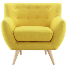 Remark Armchair, Yellow Fabric