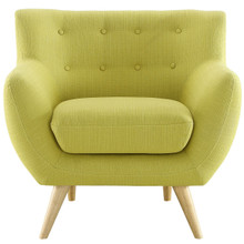 Remark Armchair, Green Fabric