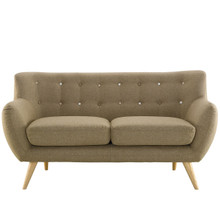 Remark Loveseat, Brown Fabric