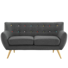 Remark Loveseat, Grey Fabric