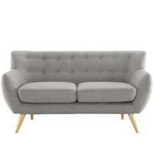 Remark Loveseat, Light Grey Fabric