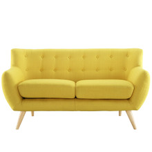 Remark Loveseat, Yellow Fabric