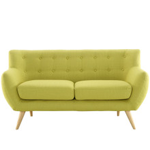 Remark Loveseat, Green Fabric