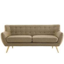Remark Sofa, Brown Fabric