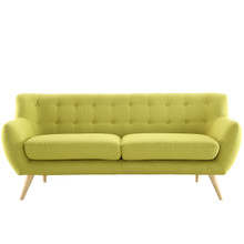 Remark Sofa, Green Fabric