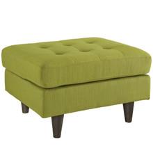 Empress Upholstered Ottoman, Green Fabric