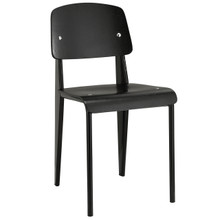 Cabin Dining Side Chair, Black Wood