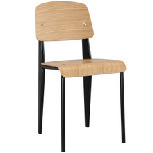Cabin Dining Side Chair, Natural Black Wood