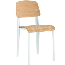 Cabin Dining Side Chair, White Wood