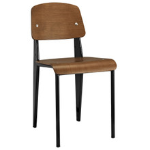 Cabin Dining Side Chair, Walnut Black Wood