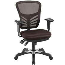 Articulate Office Chair, Brown Fabric
