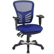 Articulate Office Chair, Blue Fabric