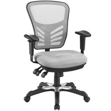 Articulate Office Chair, Grey Fabric