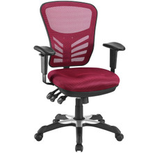 Articulate Office Chair, Red Fabric