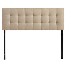 Lily King Fabric Headboard, Beige Fabric