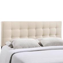 Lily King Fabric Headboard, Ivory Fabric