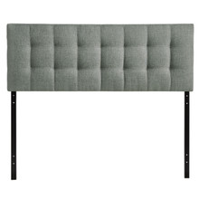 Lily Full Fabric Headboard, Grey Fabric