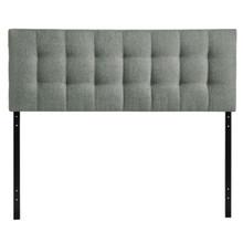 Lily Full Fabric Headboard, Grey Fabric