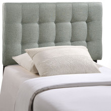 Lily Twin Fabric Headboard, Grey Fabric