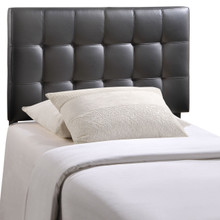 Lily Twin Vinyl Headboard, Black Faux Leather