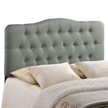 Annabel Full Fabric Headboard, Grey Fabric