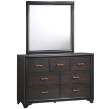 Madison Dresser and Mirror, Brown Wood